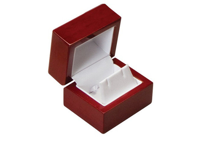 Elegant Style Wooden Jewelry Box Logol Painting Square Environmentally Friendly